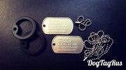 Армейский жетон Dog Tag (Дог Таг),  комплект