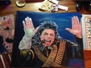 Картина маслом от юного художника для всеми известного Michael Jackson