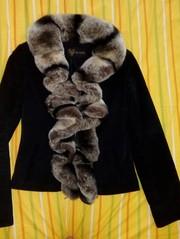 Зимняя щамшевая куртка с шикарным воротником